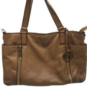 Michael Kors Brown Large Leather Shoulder Bag